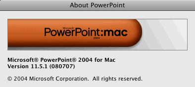 powerpoint Mac 2004