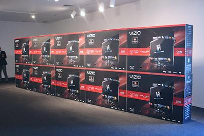 A Vizio tv wall
