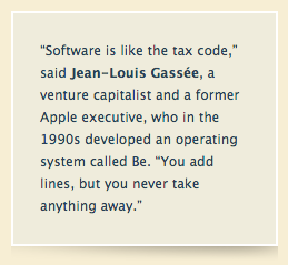gassee quote software is like the tax code